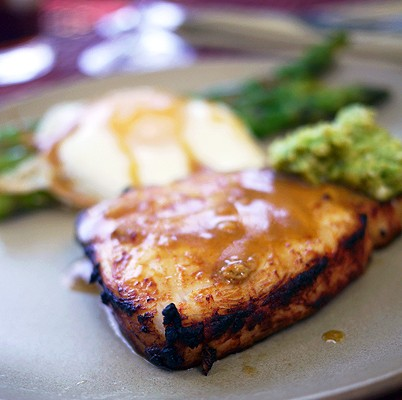 Fishin' in the Garden: Marinated Swordfish with Avocado Butter