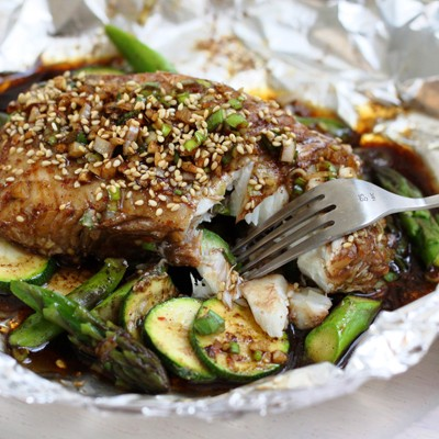Chinese Inspiration: Shanghai Steamed Black Cod with Summer Vegetables